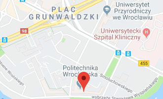 Google map with University location